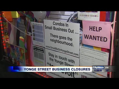 Store owners blame increased taxes for business closures on Yonge Street