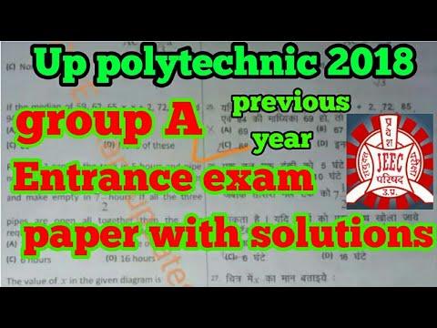 Up Polytechnic Model Paper Pdf