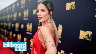"""Halsey and Juice WRLD Share """"Without Me"""" Remix   Billboard News Video"""