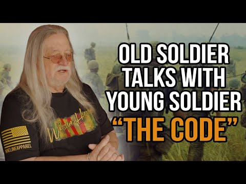 Old Soldier Talks With Young Soldier