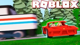 Roblox Adventures - CRUSHED BY A SPEEDING TRAIN IN ROBLOX! (Car Crushes 2 Beta)