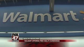 Walmart holds free health screenings nationwide