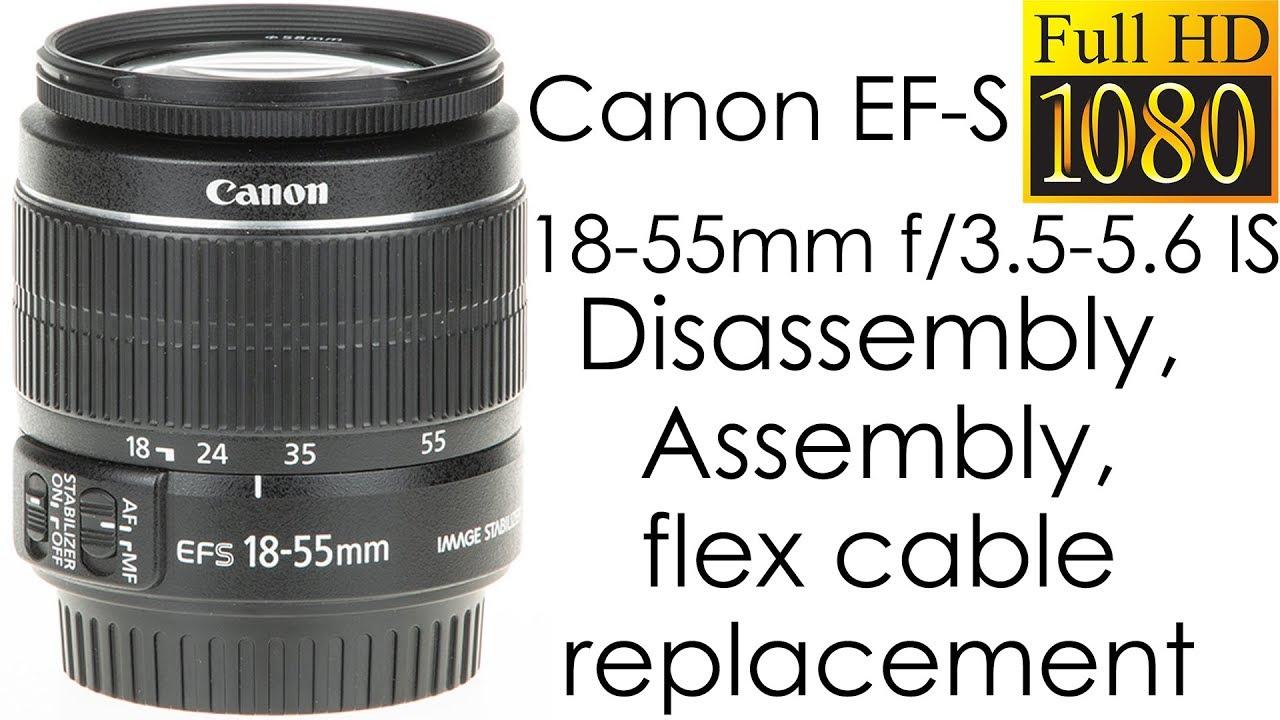 Objektiv Aperture Flexband Flexkabel Canon EF-S 18-135mm /& 18-200mm