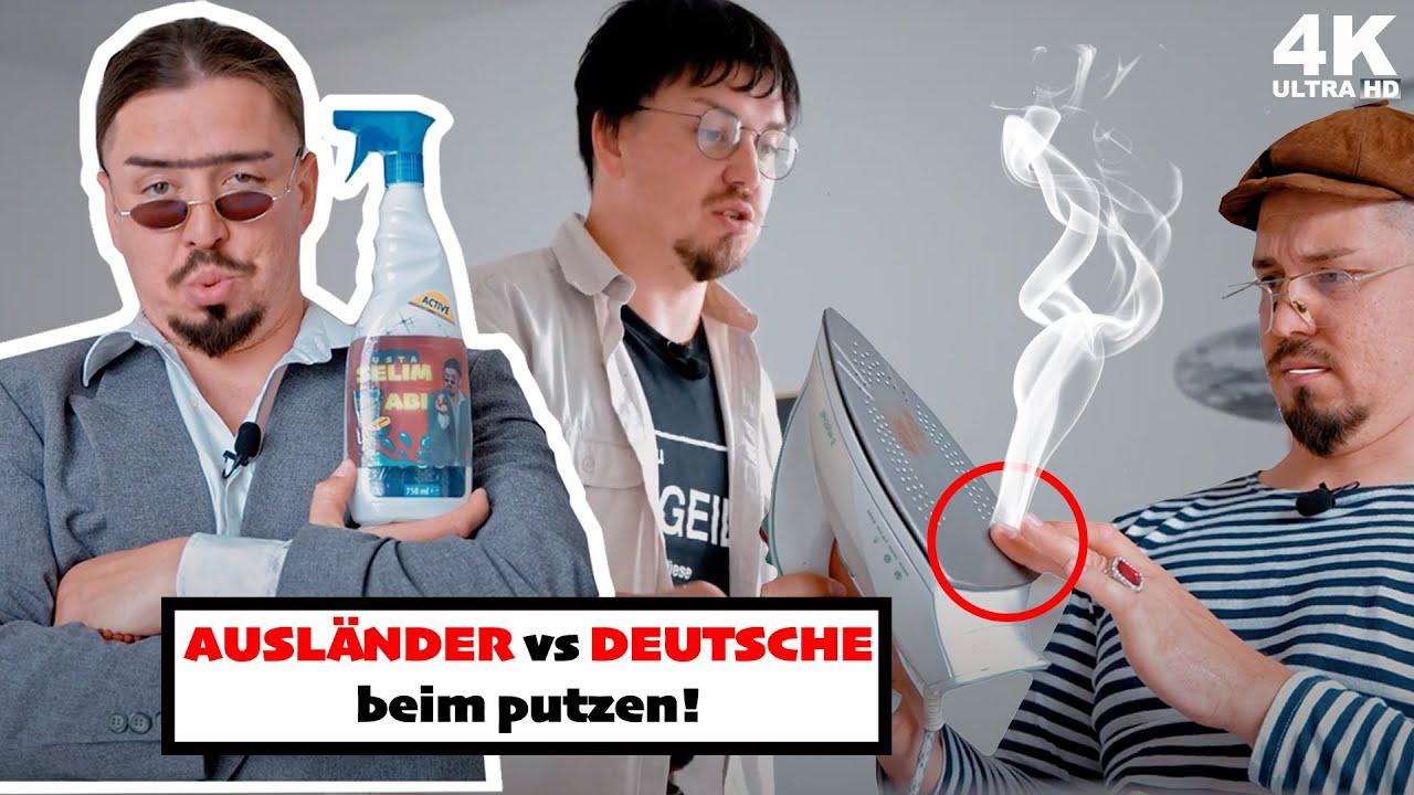 Deutsche und Ausländer beim Putzen (Vergleich)