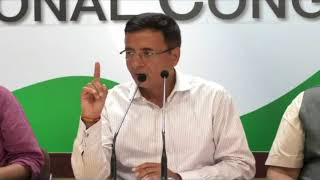 Falling Rupee: AICC Press Briefing By Randeep Singh Surjewala and Gourav Vallabh at Congress HQ