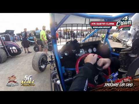 #75 Dustin Clark - Non-Wing Sprint - Eldora Speedway #4Crown 9-28-19