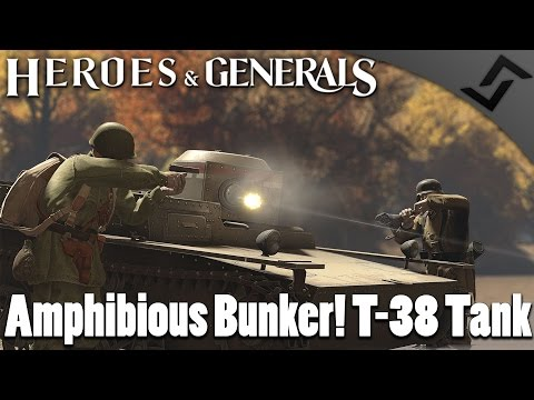 Amphibious Bunker! T-38 Tank - Heroes and Generals Tank Gameplay