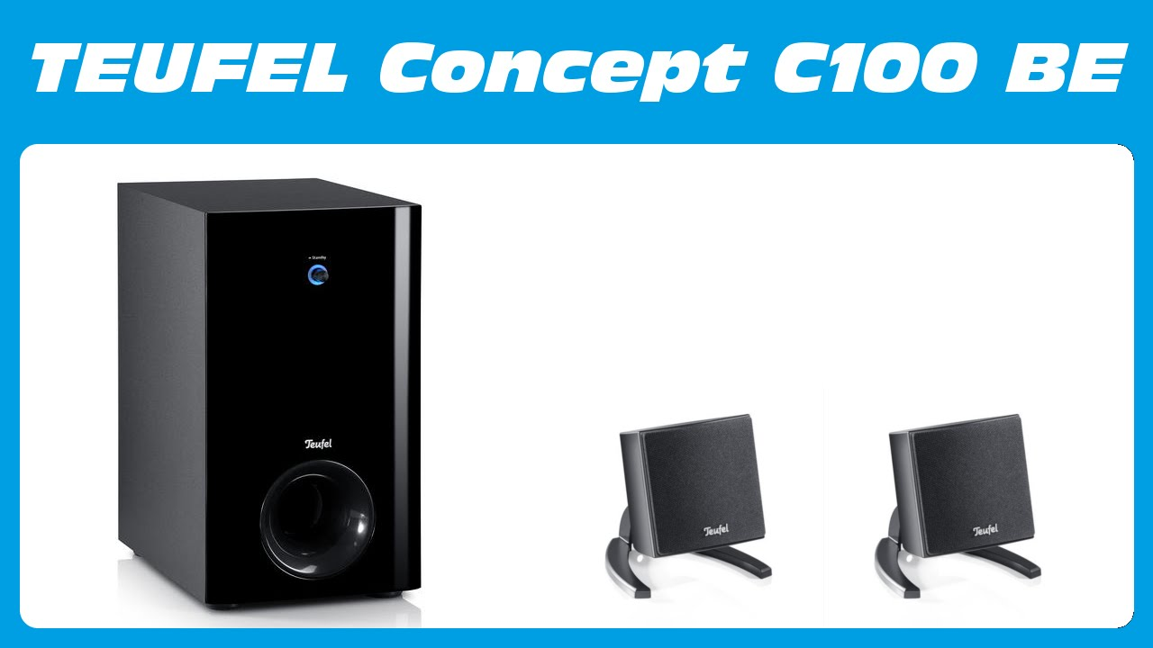 teufel concept c100 be 2 1 soundsystem unboxing kurzreview youtube. Black Bedroom Furniture Sets. Home Design Ideas