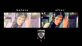 Как снимают клипы, До и После обработки