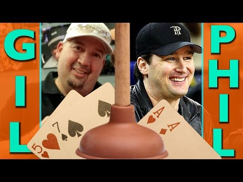 Can Phil Hellmuth's Pocket Aces Hold vs. Gil The Plumber? ♠ Live at the Bike!