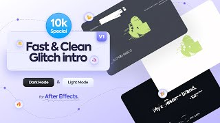 Glitch intro after effects template free with sfx - 10k Special free glitch intro template - 2021