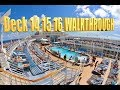 Oasis of the Seas Deck 14 15 16 Walkthrough