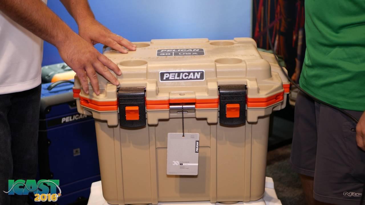 Pelican 30qt Elite Cooler Tan//Orange NEW!!!