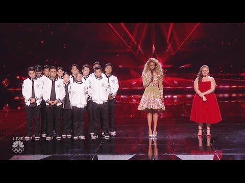 Results Quarter Finals  Yoli Mayor Just Jerk - Judges Save America's Got Talent 2017  -Live Vote