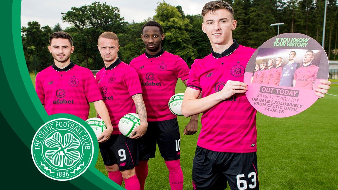 7f2b69cf27f Celtic FC - Celts' new third kit - YouTube