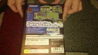 Nostalgamer Unboxes World Soccer 2000 On Sony Playstation 2 Two Japan Import NTSC-J System Version