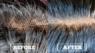 How To: Bleaching My Lace Closure Knots + Blonde Roots Correction (Most Natural Looking Closure)