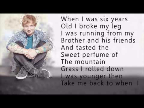 Ed sheeran-Castle on the hill (lyrics)