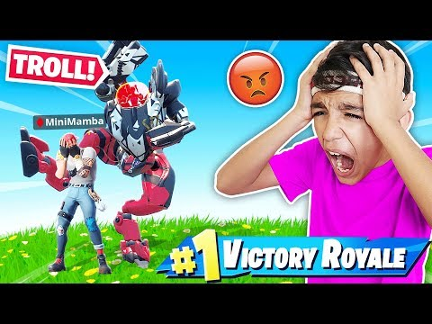BRUTE Mech Robot Makes Little Brother Rage Quit In Fortnite!