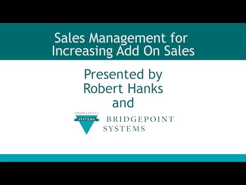 Add On Sales - Section 13 -  Sales and Management Training