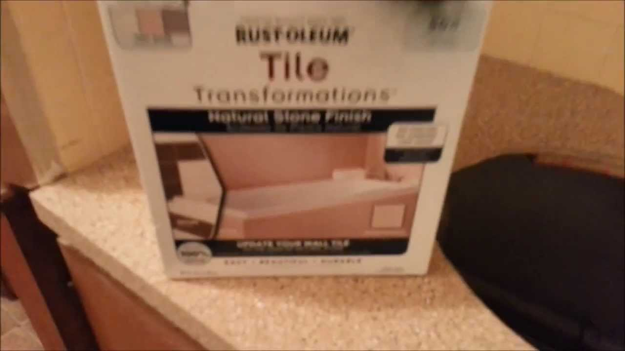 Rustoleum Countertop Paint On Tile : Countertop Transformation the Rust-Oleum way - YouTube