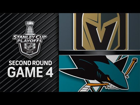 Sharks shut out Golden Knights in Game 4, even series