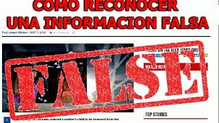¿Como saber cuando una noticia es falsa?