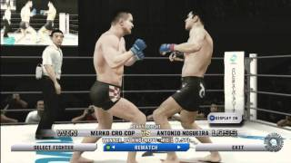 UFC Undisputed 3 Pride Gameplay Mirko Cro Cop vs Antonio Nogeira