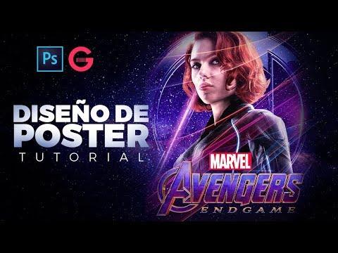 Photoshop Tutorial | Poster Estilo Avengers: Endgame | Poster Avengers: Endgame's Style