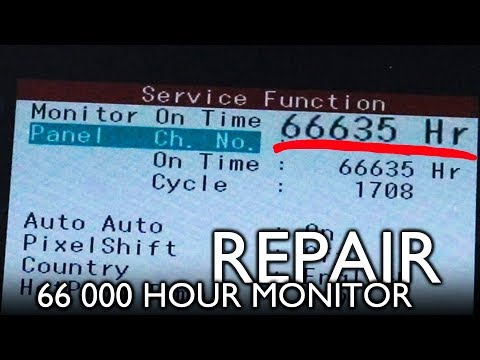 66 THOUSAND HOUR Samsung F2380 LCD monitor repair