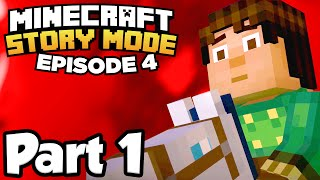 Minecraft: Story Mode [Episode 4] Part 1 - A BLOCK AND A HARD PLACE!!! (Full Gameplay)