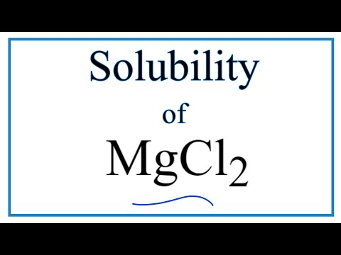 Is MgCl2 Soluble Or Insoluble In Water?