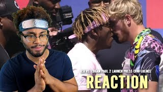 KSI vs. Logan Paul 2 Launch Press Conference HIGHLIGHTS Reaction
