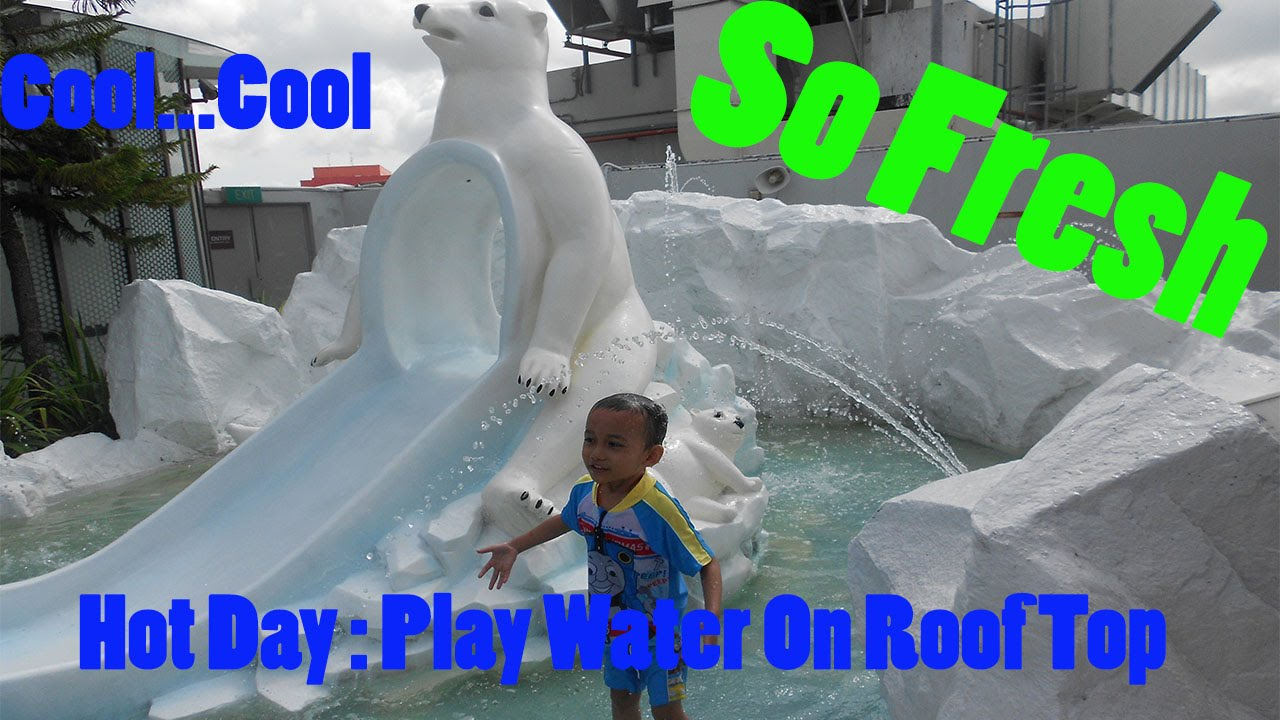 Hot Day: Play Water On Roof Top, So Cool N Fresh