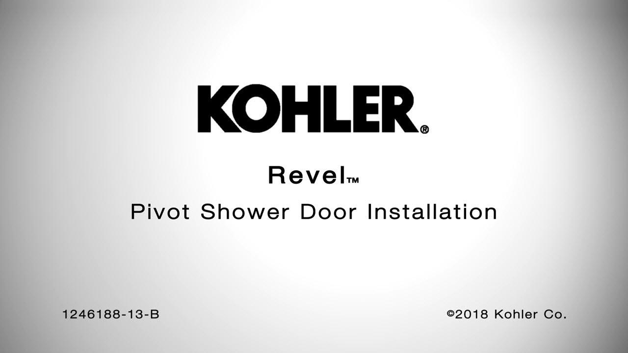 step by step shower door installation | Installation - Revel Pivot Shower Doors - YouTube