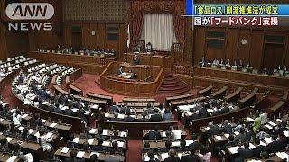 食品ロス削減法が成立 フードバンク支援を明記(19/05/24)