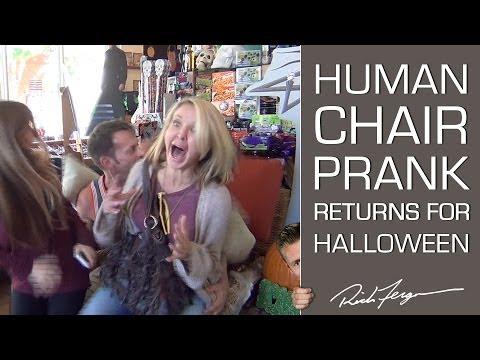 Halloween Scare Prank! Human Chair Photo Trick!