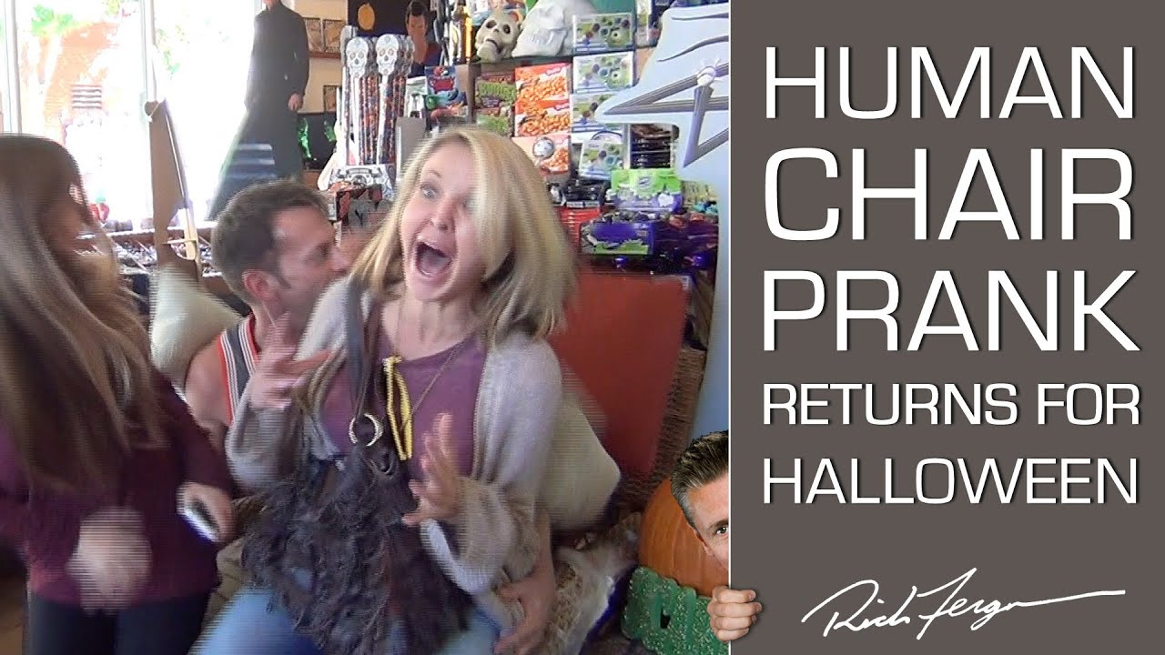 Halloween Scare Prank Human Chair Trick