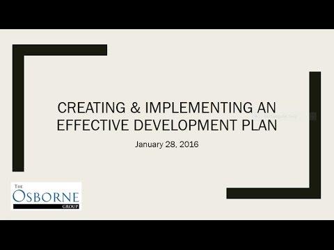 Creating & Implementing an Effective Development Plan