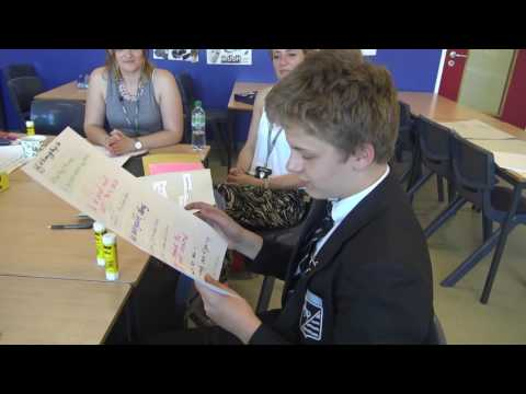 Cut-up poetry at Forest Hill School