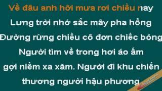 Chieu Mua Bien Gioi Karaoke Thanh Tuyen CaoCuongPro