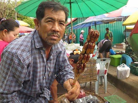 Thai-Laos Market , Laos wild market in NakhonPhanom ,Thailand