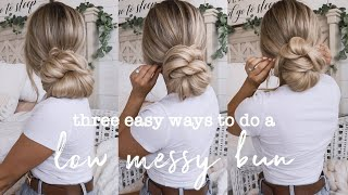 Three Easy Low Bขn Hair Style Hacks | OKEVAAA