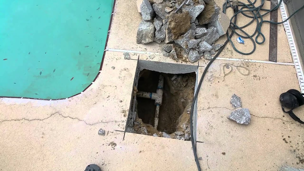 Ss Swimming Pool Pipe Repair Youtube