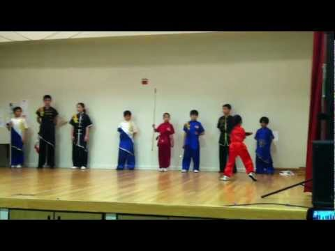 Wuchi kung fu performance at Alisal elementary school