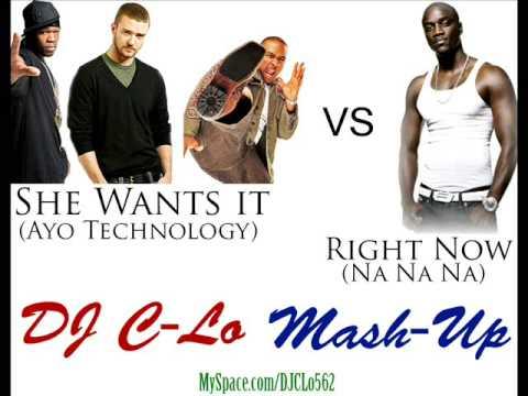 Ayo Technology vs Right Now DJ CLo MashUp
