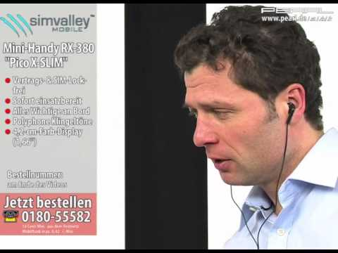 "simvalley MOBILE Mini-Handy RX-380 ""Pico X-SLIM RED"" VERTRAGSFREI"