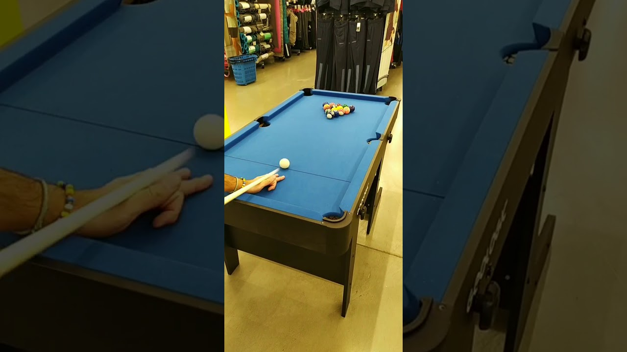 Tavolo Da Biliardo Richiudibile.Tavolo Da Biliardo Pieghevole Bt 500 Youtube