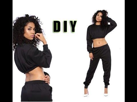 DIY sweater crop top - YouTube