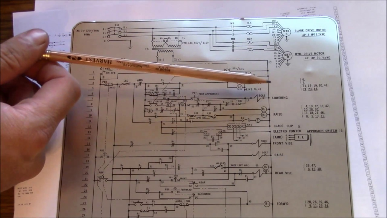 machine tool electrical and logic diagrams how to read and understand [ 1280 x 720 Pixel ]